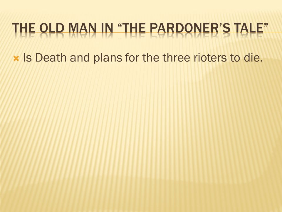  Is Death and plans for the three rioters to die.