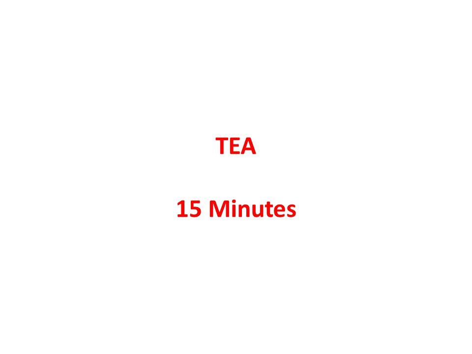 TEA 15 Minutes
