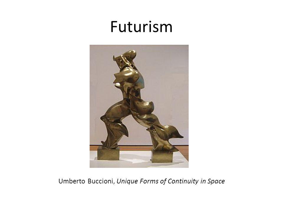Futurism Umberto Buccioni, Unique Forms of Continuity in Space