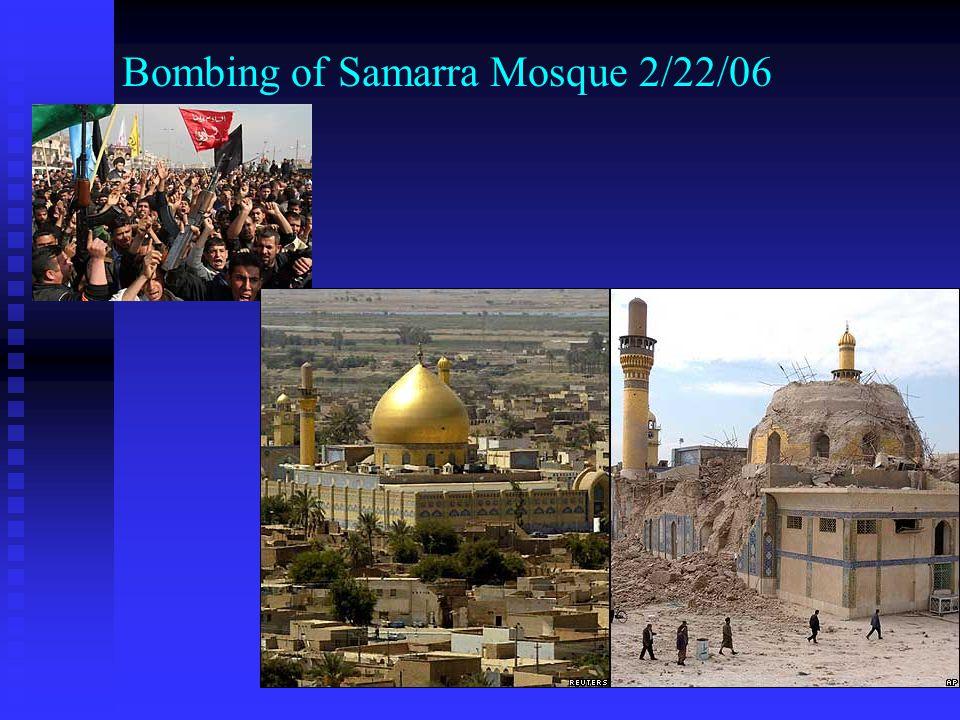 Bombing of Samarra Mosque 2/22/06