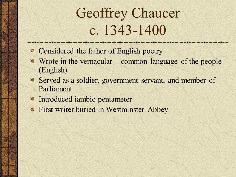 Geoffrey Chaucer c.