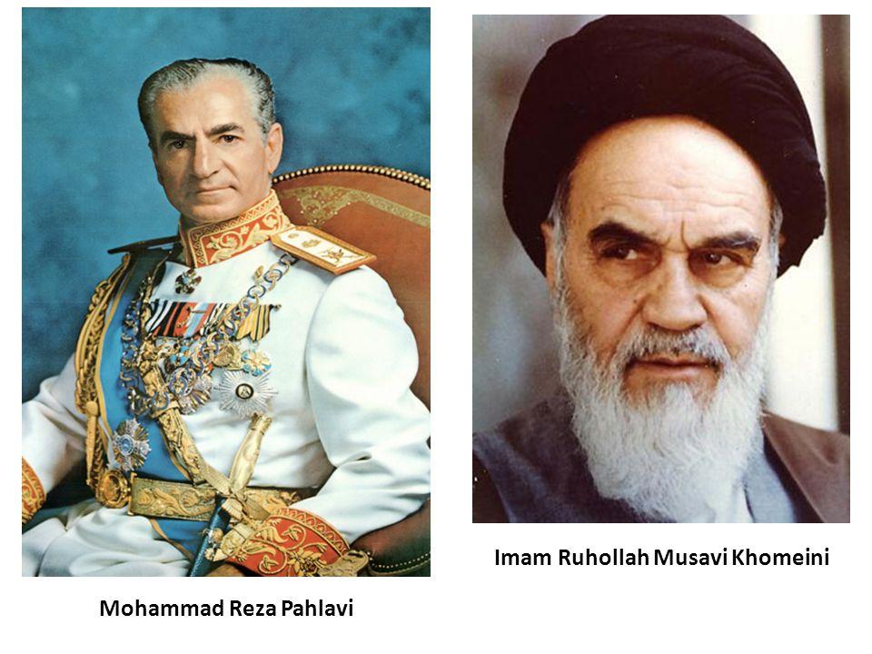 Mohammad Reza Pahlavi Imam Ruhollah Musavi Khomeini