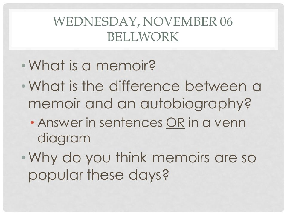 MONDAY, NOVEMBER 11 BELLWORK Make a list of issues and social problems that are related to your book.