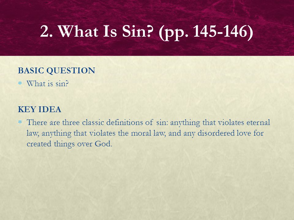 FOCUS QUESTIONS How is all sin a form of idolatry.