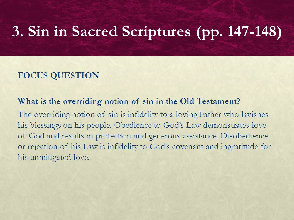 FOCUS QUESTIONS How do Isaiah and Hosea represent sin.