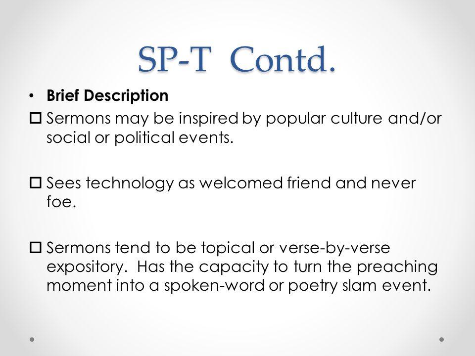 SP-T Contd.