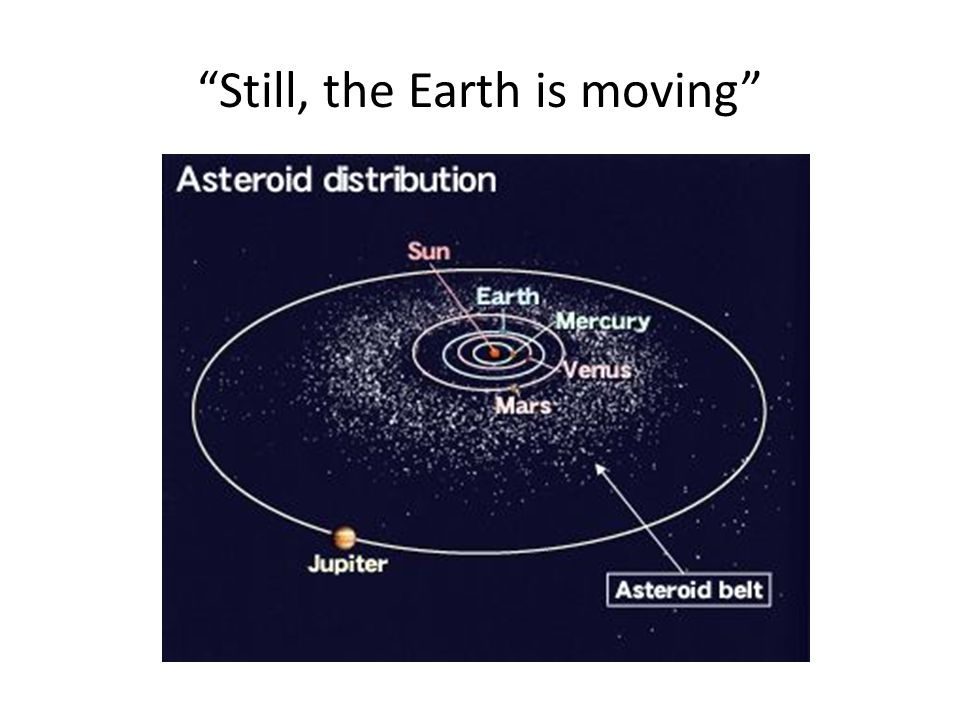 Still, the Earth is moving