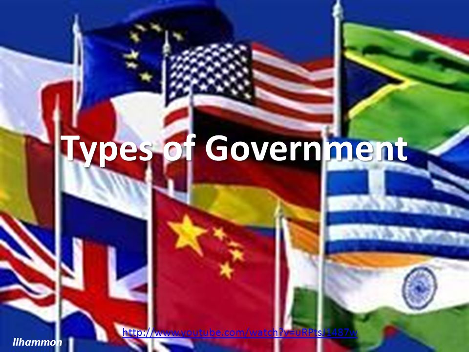 Types of Government llhammon http://www.youtube.com/watch?v=uRPtsJ1487w
