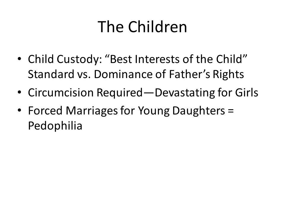 The Children Child Custody: Best Interests of the Child Standard vs.