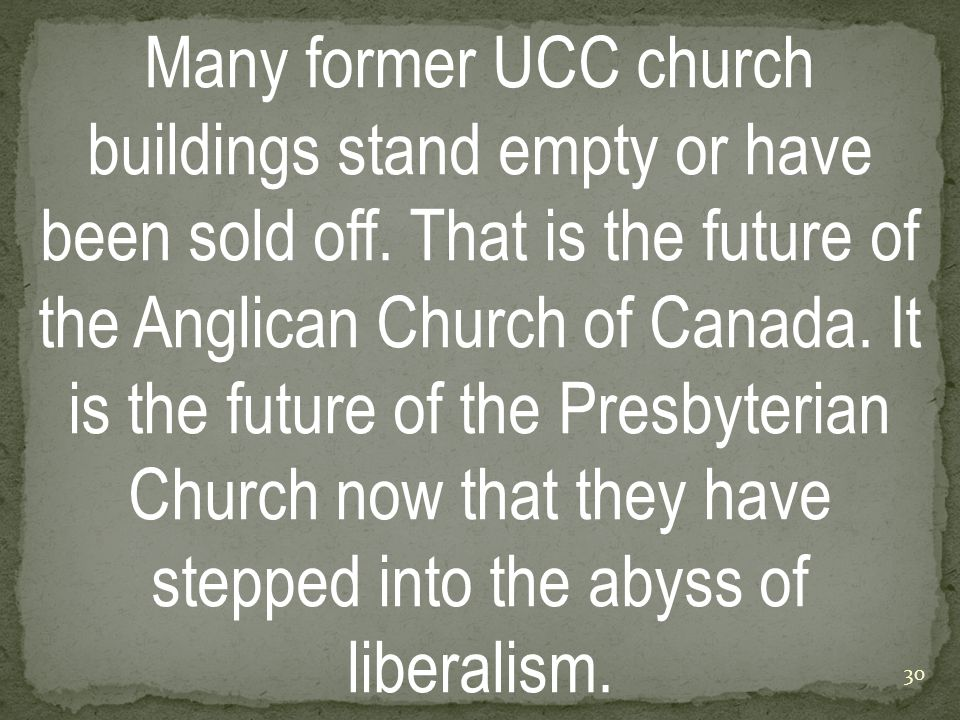 Many former UCC church buildings stand empty or have been sold off.