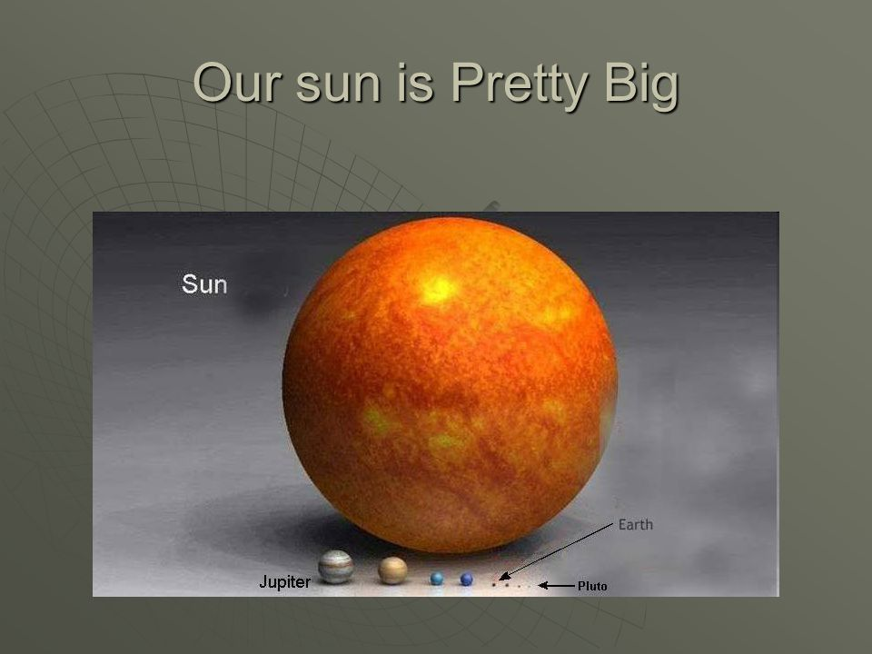 Our sun is Pretty Big