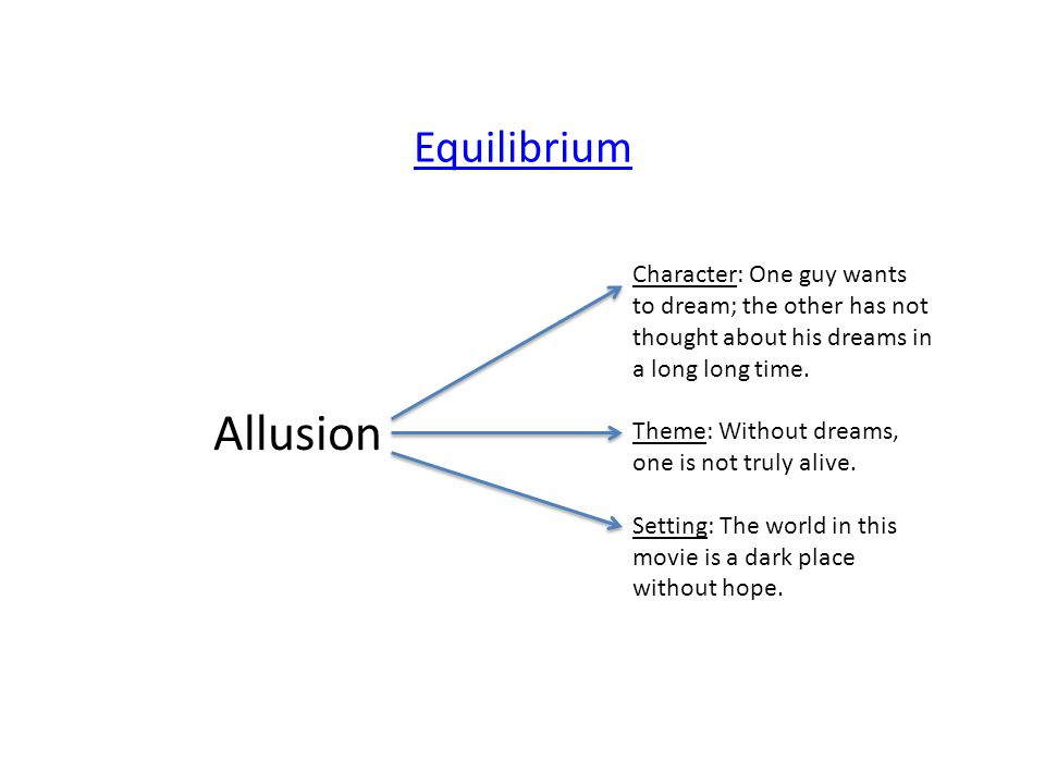 Allusion Character: One guy wants to dream; the other has not thought about his dreams in a long long time.