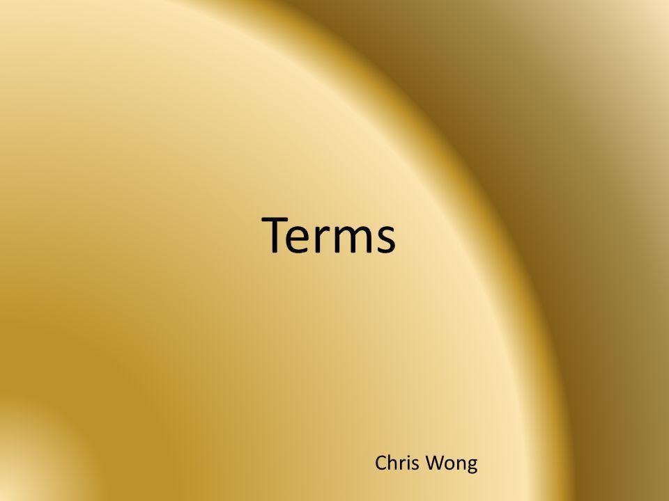 Terms Chris Wong