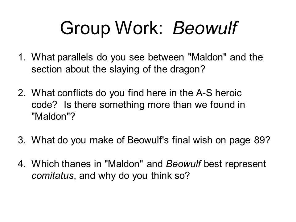 Group Work: Beowulf 1.