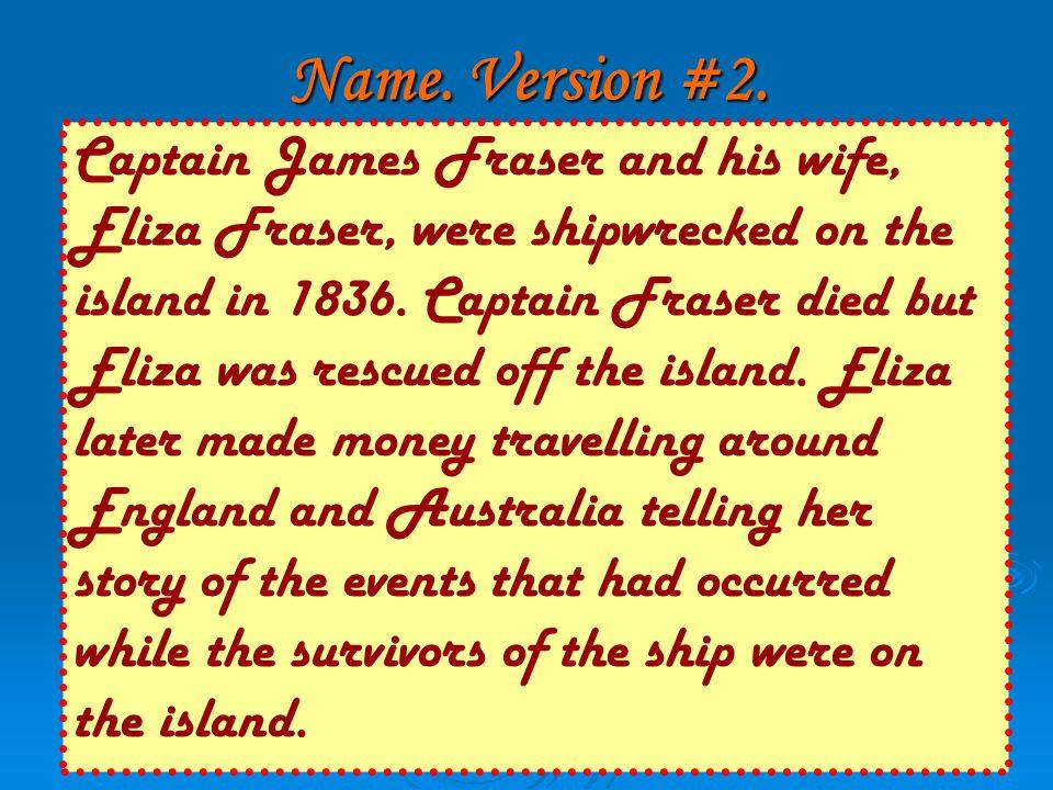 Name. Version #2.