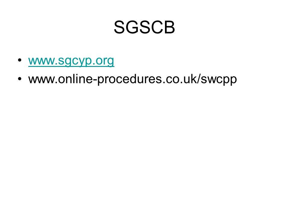SGSCB www.sgcyp.org www.online-procedures.co.uk/swcpp