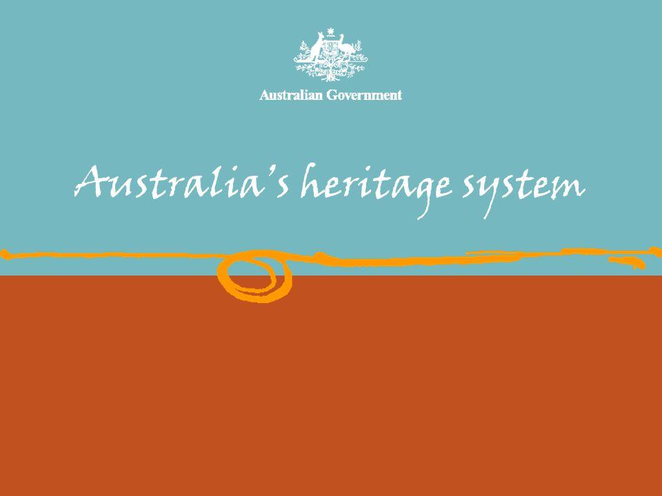 Australia's heritage system