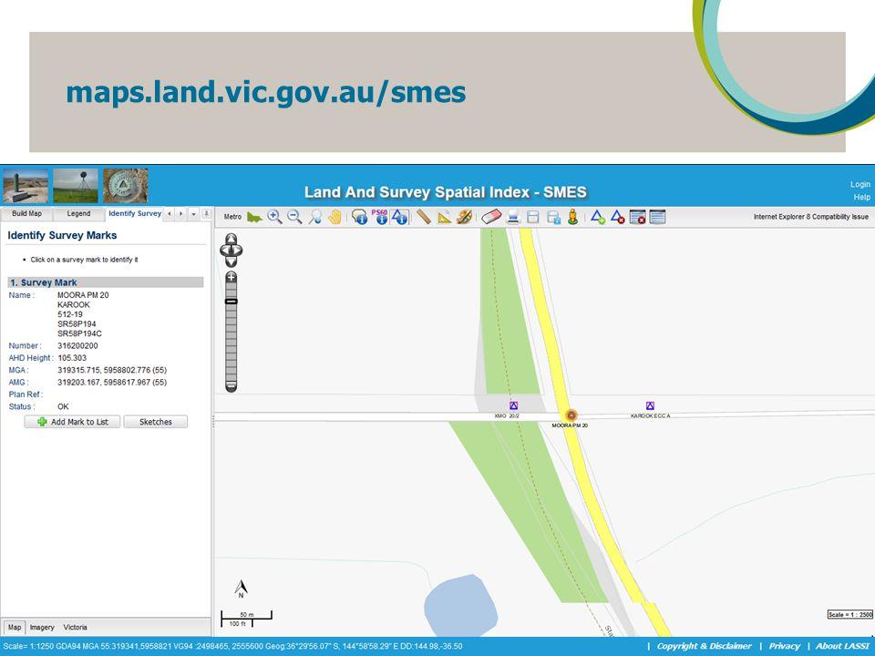 maps.land.vic.gov.au/smes 12