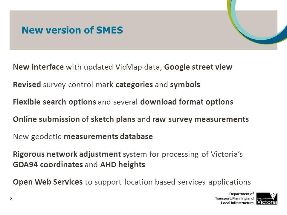 New version of SMES 9 maps.land.vic.gov.au/smes