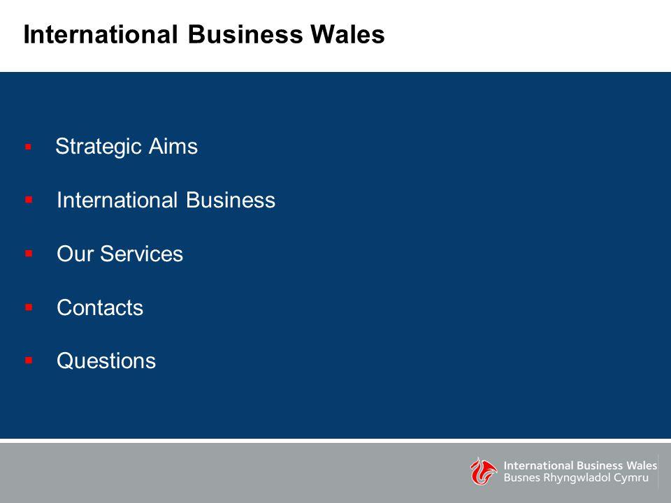 International Business Wales  Strategic Aims  International Business  Our Services  Contacts  Questions