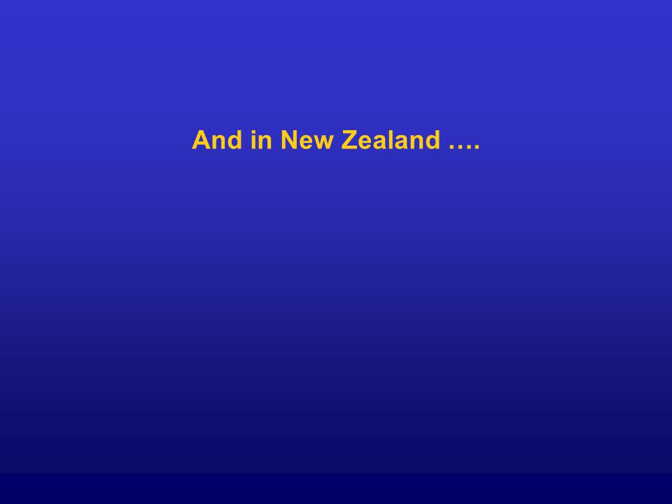 And in New Zealand ….