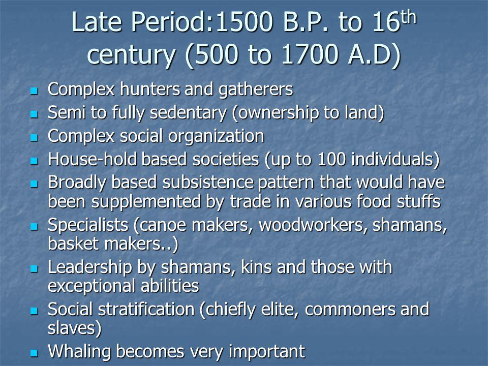 Late Period:1500 B.P.