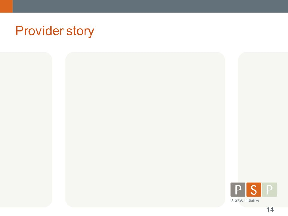Provider story 14