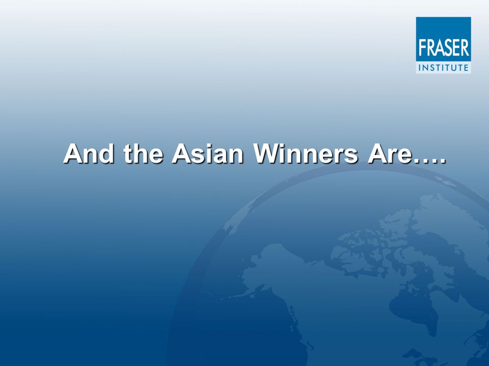 And the Asian Winners Are….