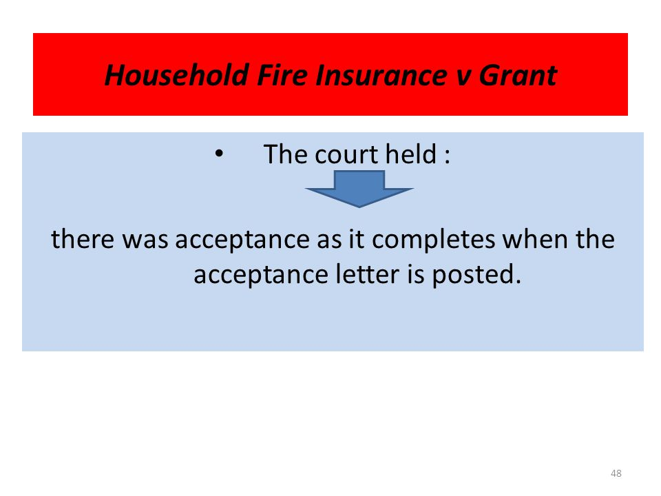 Household Fire Insurance v Grant The D has made an offer to buy shares in P 's company.