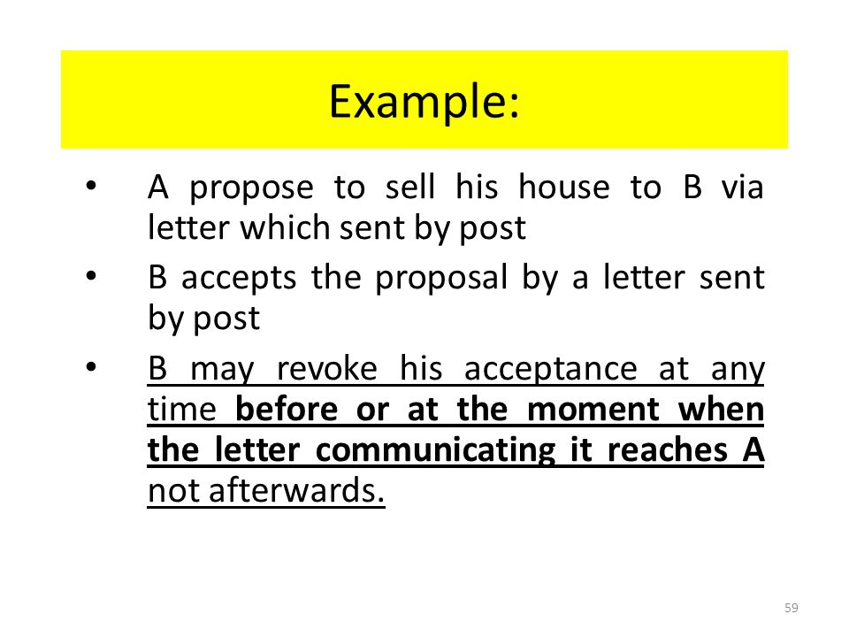 Communication of Revocation of acceptance S4(3) (a) of CA : Acceptor: when he put in the course of transmission to the offeror.