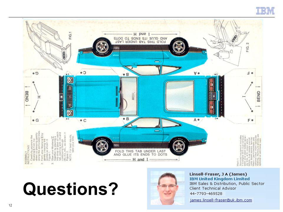 © 2011 IBM Corporation12 Questions