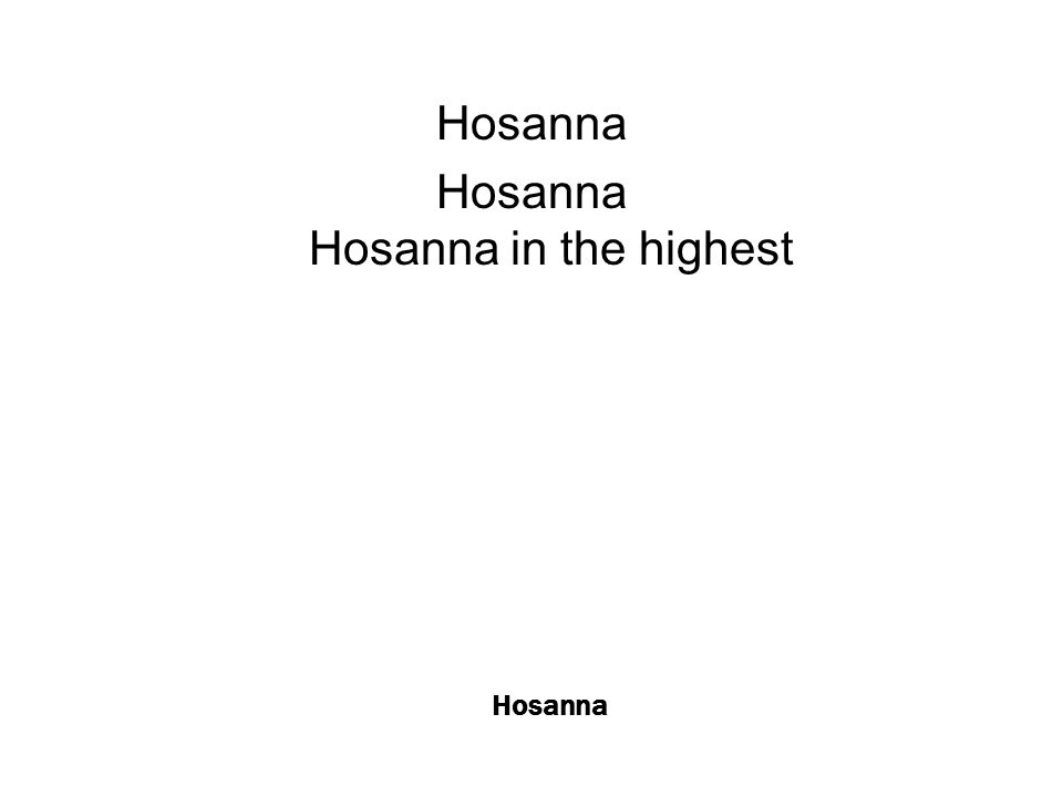 Hosanna I see a generation rising up to take their place with selfless faith with selfless faith