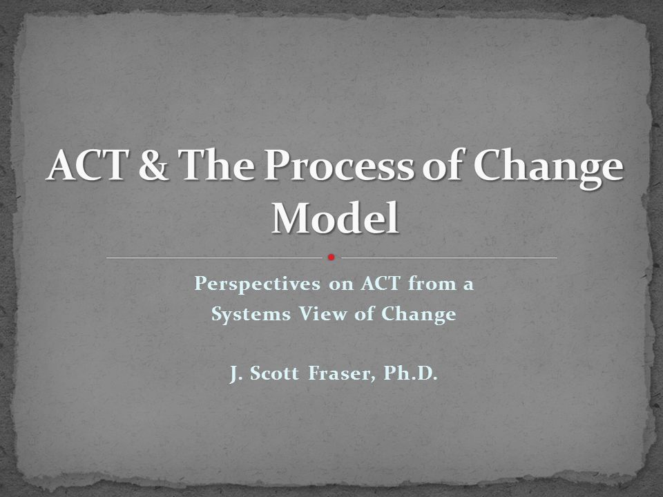 The key element that this model adds to the Contextual Model is that the focus of change in all effective treatments is upon second-order change