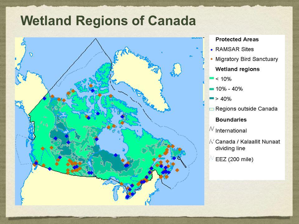 Wetland Regions of Canada