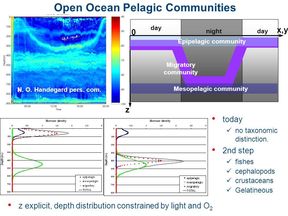 Open Ocean Pelagic Communities today no taxonomic distinction.