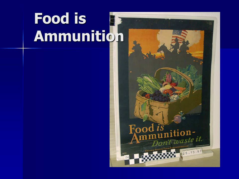 Food is Ammunition