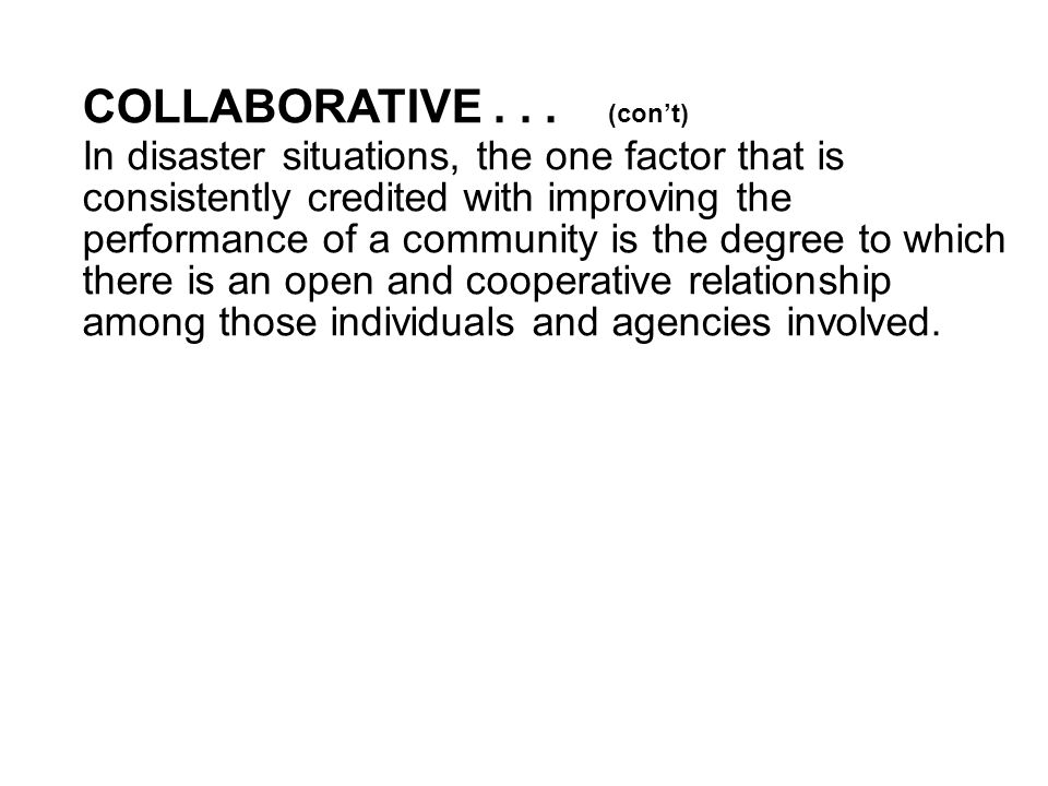 COLLABORATIVE...