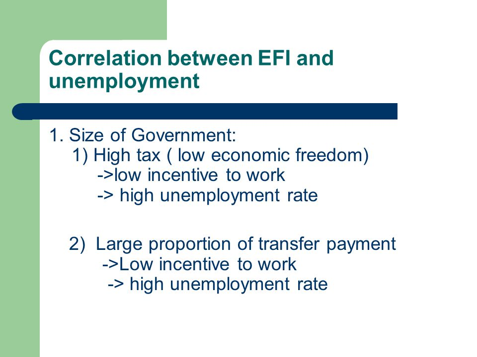 Reasons for the successful of economic freedom 5.