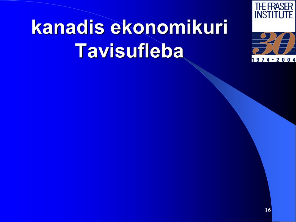 15 ekonomikuri Tavisufleba droSi Source: The Fraser Institute.