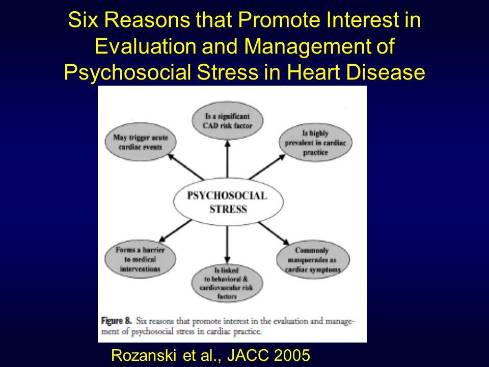 Stepped Collaborative Approach for Managing Psychosocial Stress Rozanski et al., JACC 2005