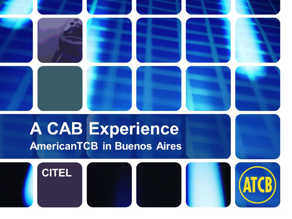 2 ATCB.com info@atcb.com A CAB Experience A look at the MRAs and their effect on Conformity Assessment, Technology and Market Access