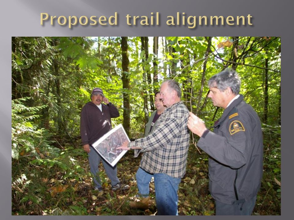 Confirming proposed trail route