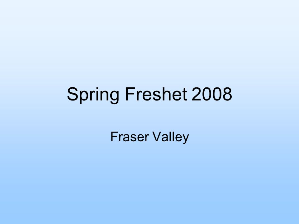 Spring Freshet 2008 Fraser Valley