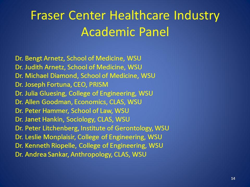 Fraser Center Healthcare Industry Academic Panel Dr.