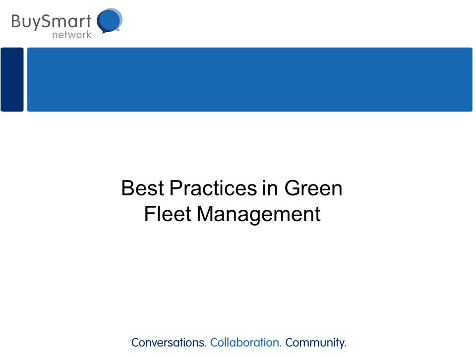 Best Practices in Green Fleet Management