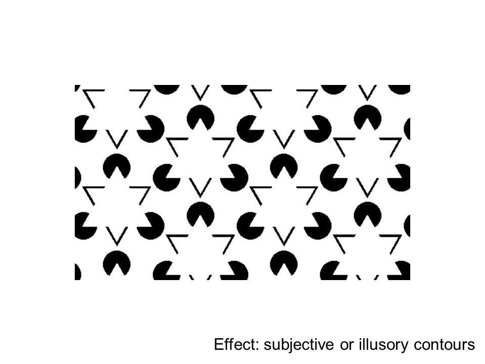 Effect: subjective or illusory contours