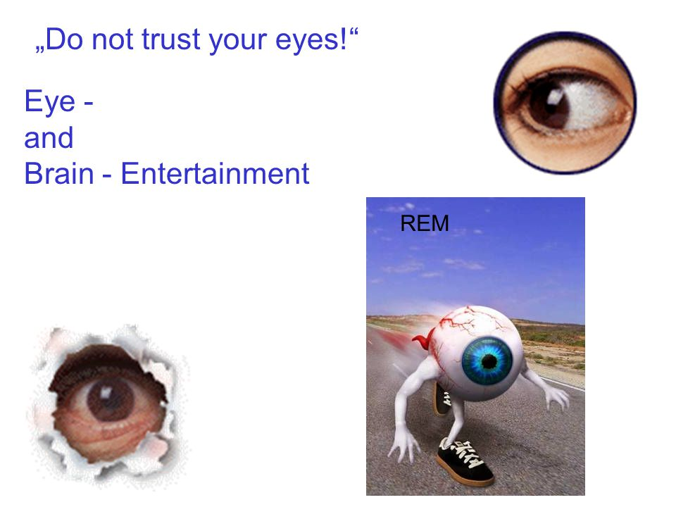 "Eye - and Brain - Entertainment ""Do not trust your eyes! REM"