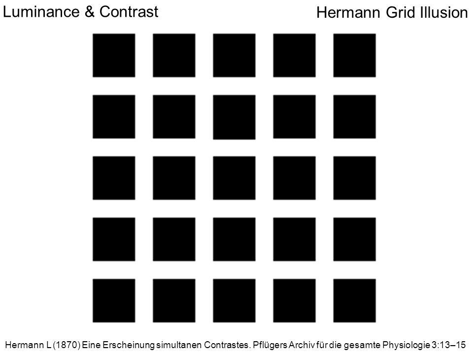Hermann Grid Illusion Luminance & Contrast Hermann L (1870) Eine Erscheinung simultanen Contrastes.