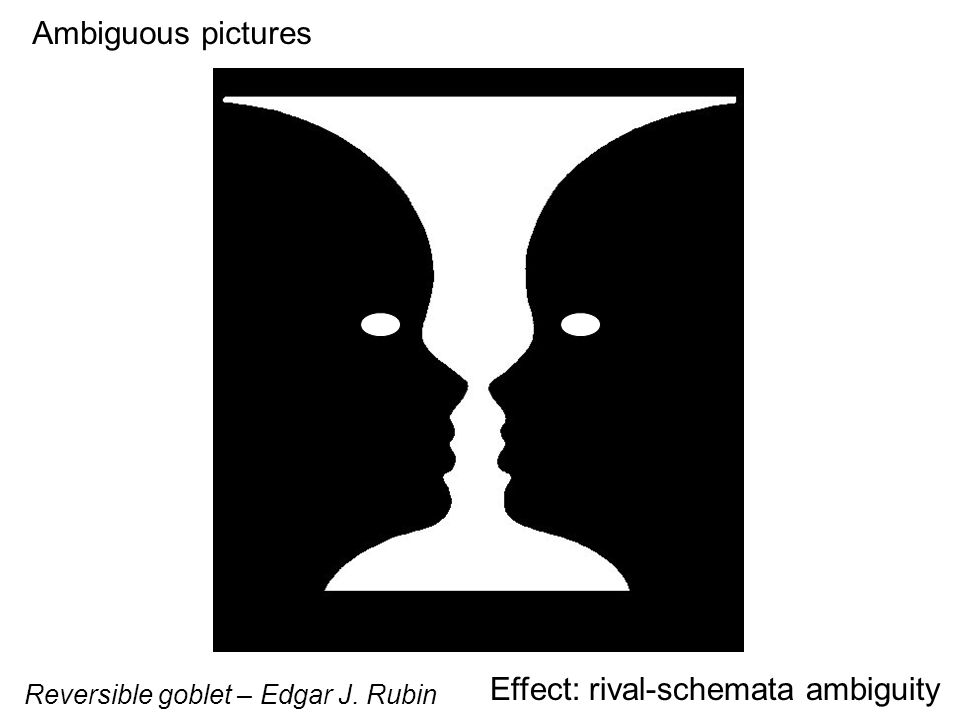 Ambiguous pictures Effect: rival-schemata ambiguity