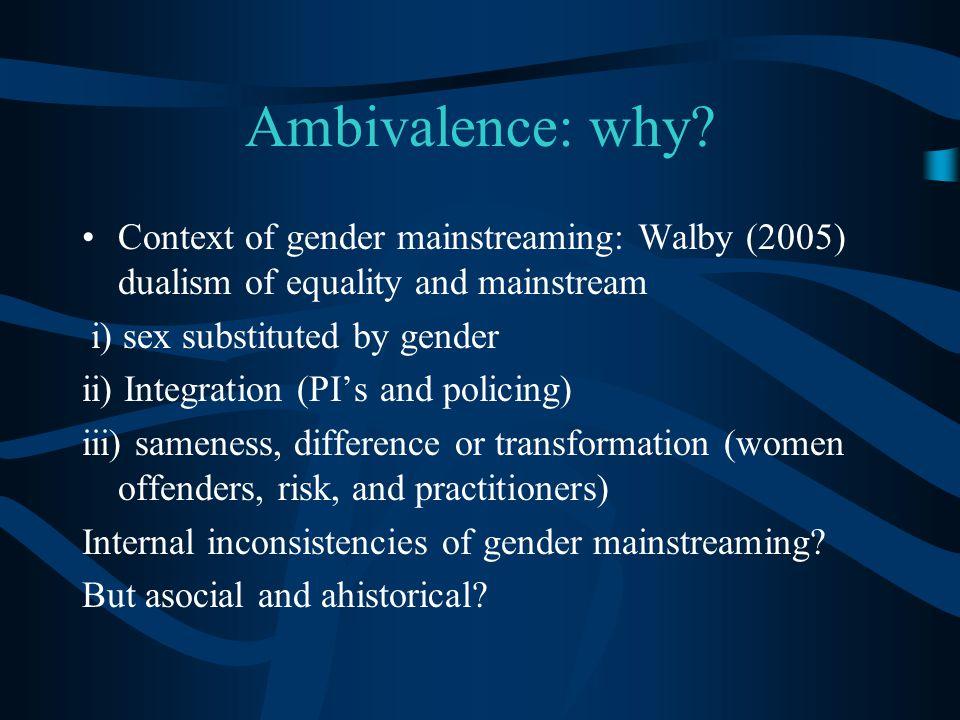 Ambivalence: why.
